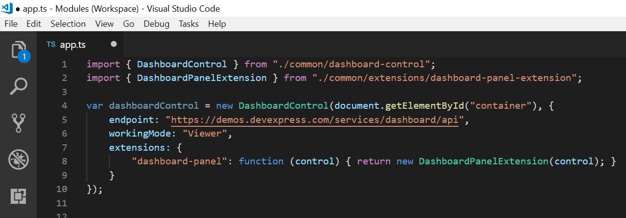Modules in VS Code