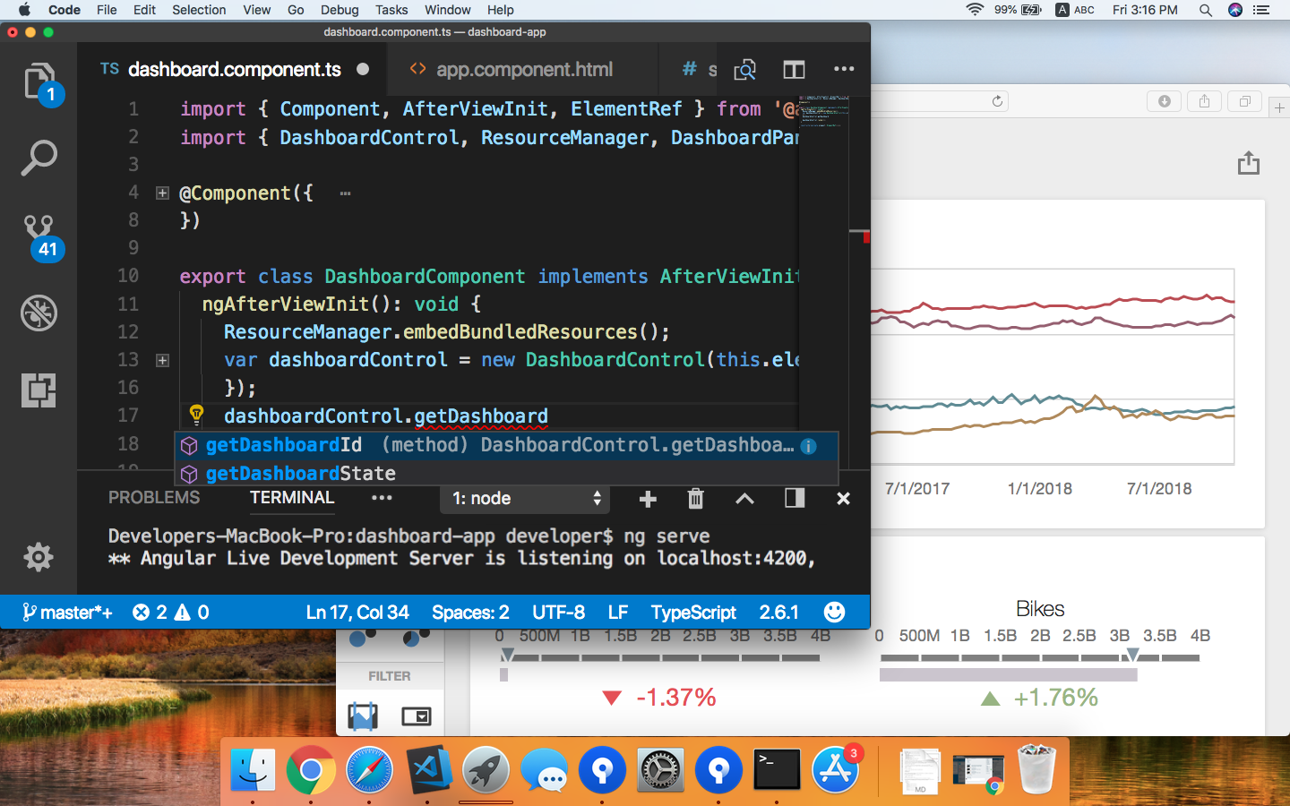 VS Code on a Mac with Code Completion for Dashboards