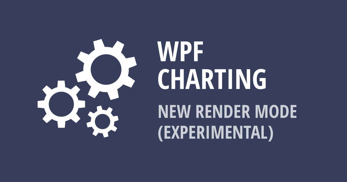 WPF Charting – New Rendering Mode (v19 1, experimental)