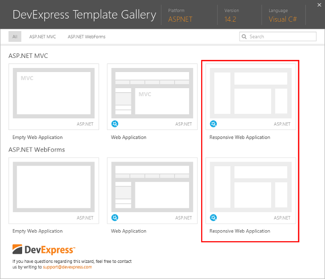 Asp adaptive and responsive ui support coming soon in v142 devexpress responsive project templates pronofoot35fo Gallery