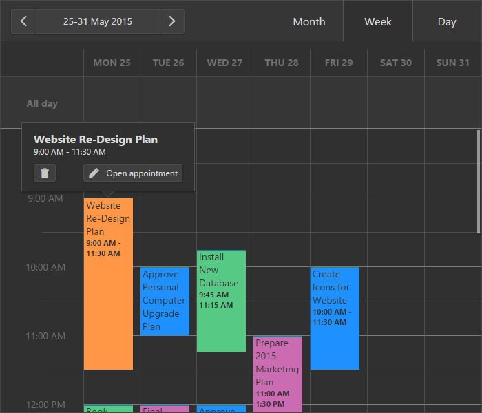 DevExpress DevExtreme HTML5 Scheduler Widget