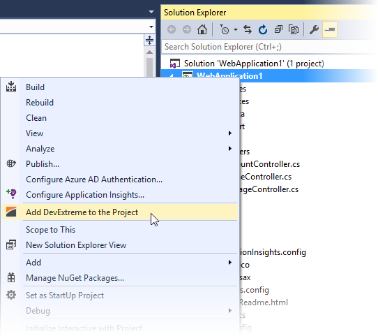 How to add DevExpress ASP NET MVC Wrappers in Visual Studio - (Now