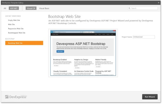DevExpress ASP.NET Bootstrap Preview