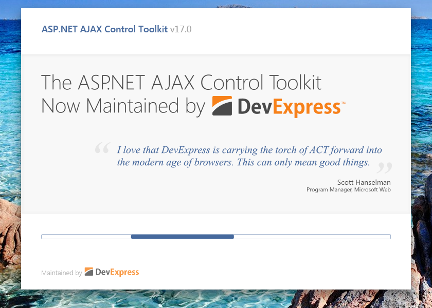 ASP.NET AJAX Control Toolkit installing into VS2017 RC