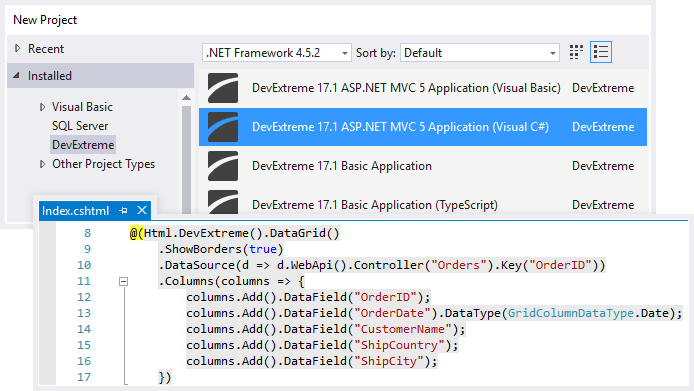 Announcing the DevExtreme MVC Controls for ASP NET MVC and  NET Core