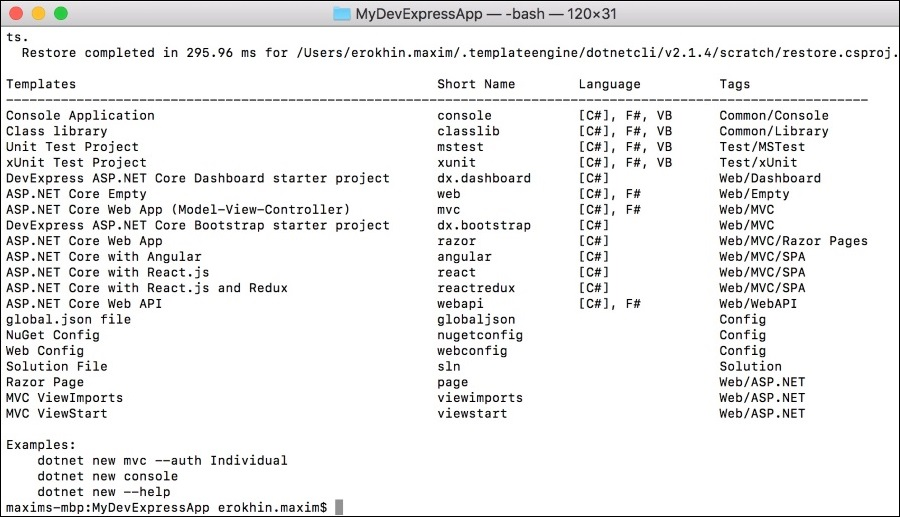 Devexpress aspx examples
