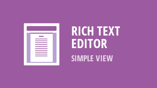 ASP.NET and MVC Rich Text Edit - Simple View / Web Layout (Available Now)