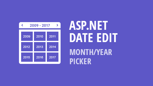 ASP.NET and MVC DateEdit & Calendar - Month-Year Picker