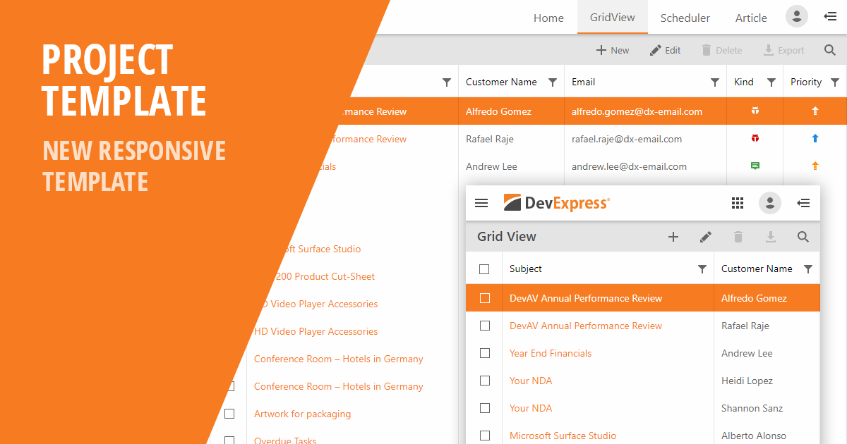 DevExpress-ASP-ResponsiveTemplate_SocialImage Xamarin Forms Examples on