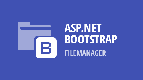 ASP.NET Bootstrap – File Manager (Available Now)