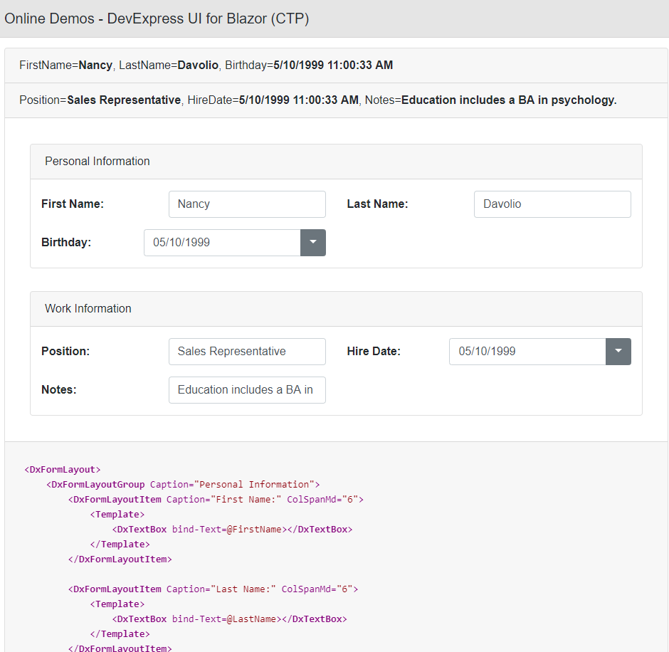 DevExpress UI for Blazor - What's new in Preview 5