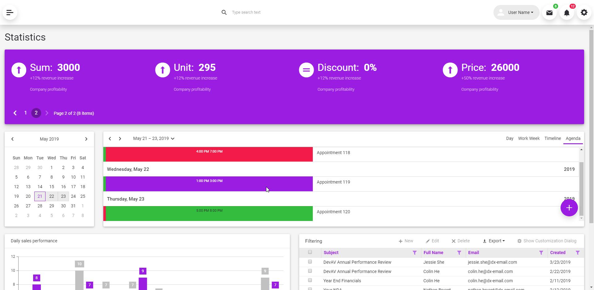 DevExpress ASP.NET Bootstrap Responsive Project Template