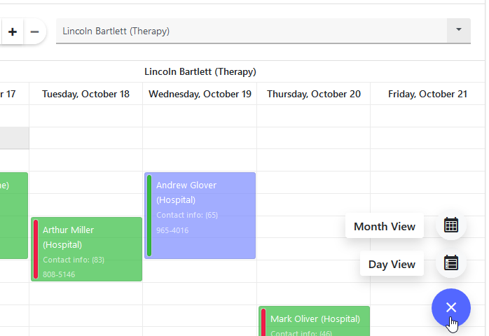 DevExpress Bootstrap Scheduler