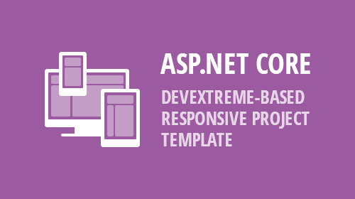 ASP.NET Core - New DevExtreme-based Responsive Project Template (v19.1)