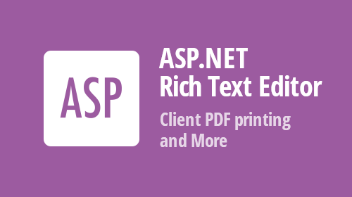 ASP.NET Core, WebForms and MVC RichEdit - Insert RTF Content, Client PDF Printing, and Font Management (available in v20.1)