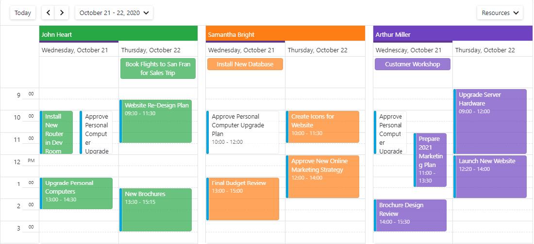 Blazor Scheduler Resources