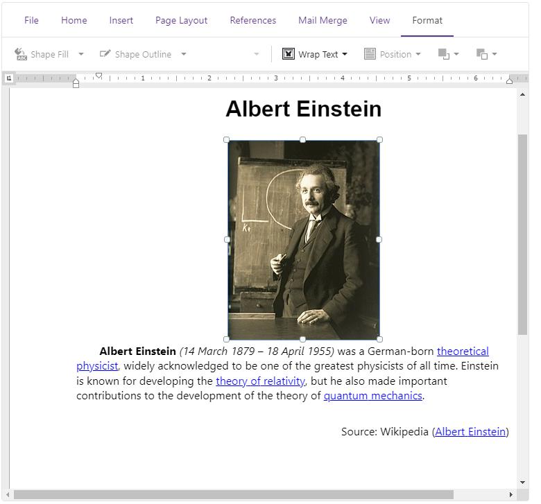 DevExpress Blazor Rich Text Editor - Floating Objects