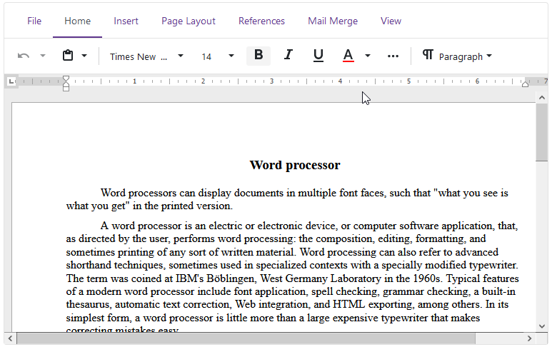 DevExpress Blazor Rich Text Editor
