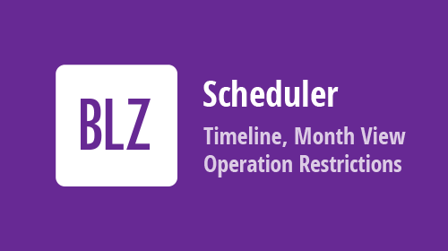 Blazor Scheduler - New Timeline and Month Views, Operation Restrictions, and more (available in v21.1)