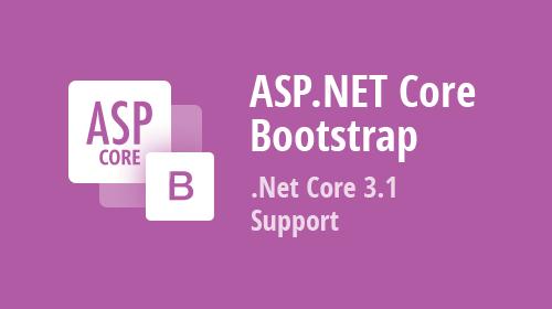 Bootstrap ASP.NET Core - .NET Core 3.1 Support