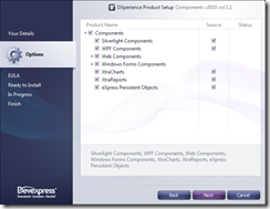 Select DevExpress Products To Install