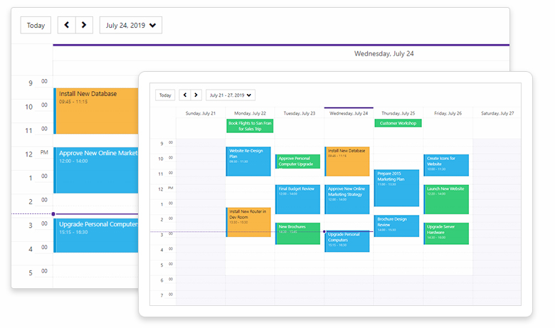 Blazor Components - New Blazor Scheduler Control, Data Grid