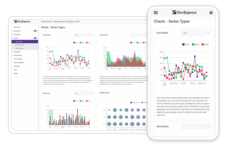 DevExpress Blazor Charts - Mobile Friendly