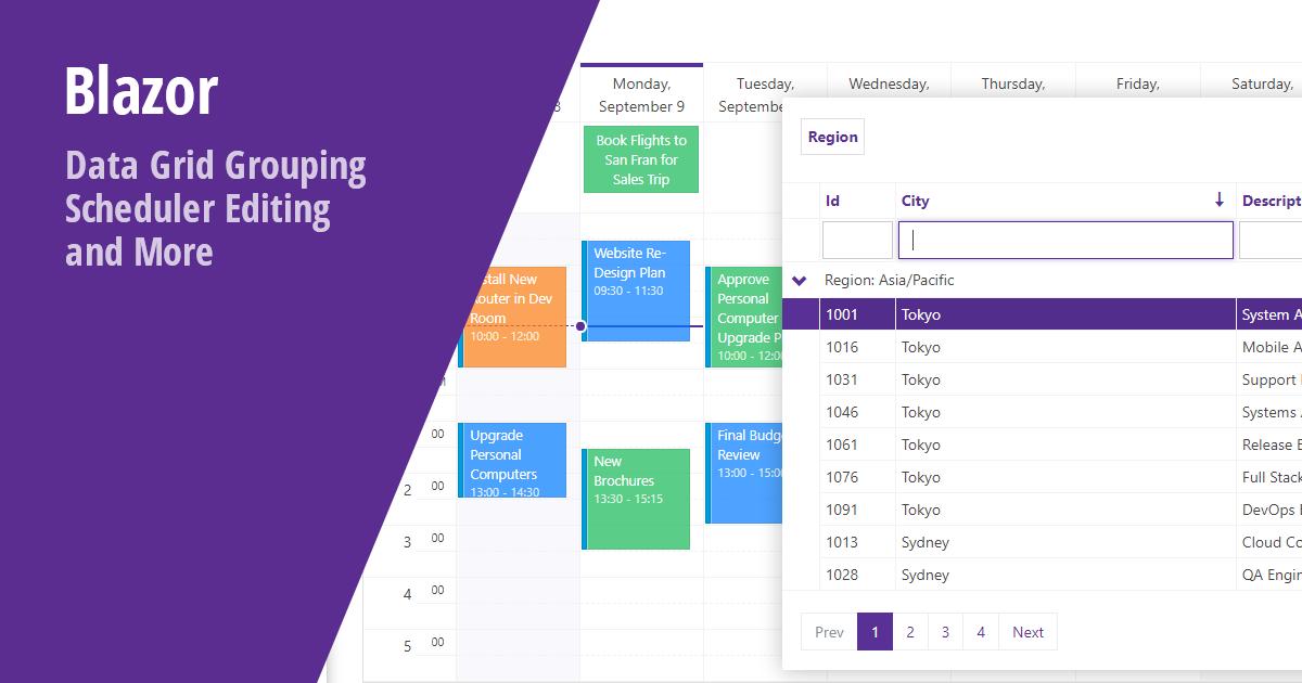 Blazor Components - DataGrid and Scheduler Enhancements