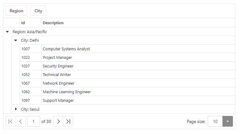 DevExpress Blazor Data Grid