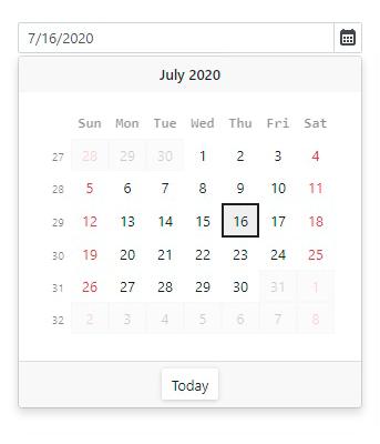 DevExpress Blazor-dateedit-calendar-min-max-date-range-limition