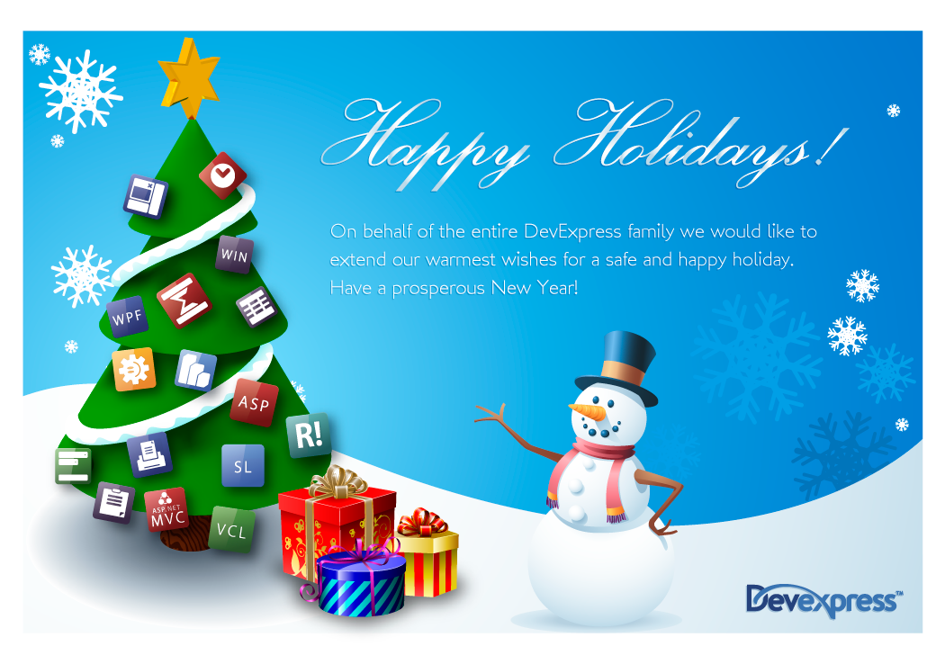 Happy holidays from devexpress asp team blog developer happy holidays from devexpress uses for the greeting card m4hsunfo