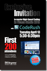 Amazing CodeRush Session Giveaway