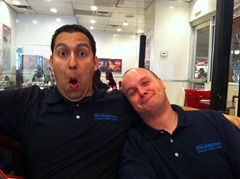 Seth Juarez and Jeff Cosby having fun at TechEd 2011