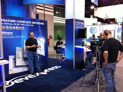 Julian Bucknall recording a CTO message at TechEd 2011
