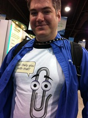 Dustin Campbell and the awesome Clippy shirt