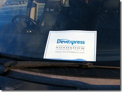 DevExpress Road Show Car Sign
