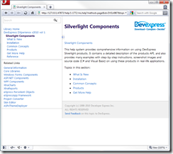 DevExpress Silverlight Help Root