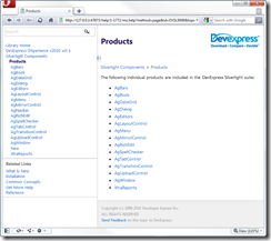 DevExpress Silverlight Help Products