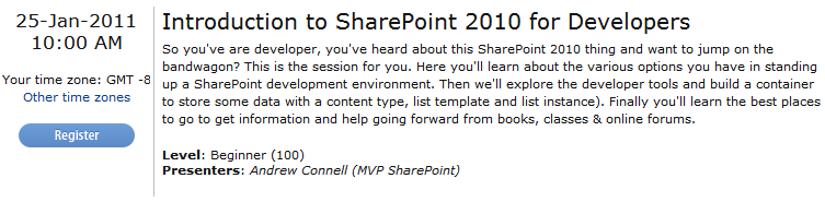Introduction to SharePoint 2010 Webinar