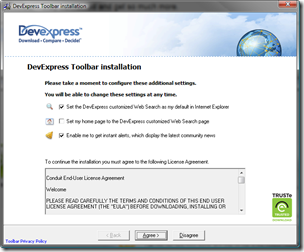 DevExpress Toolbar installation