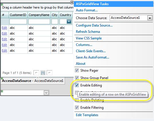 Devexpress gridview rowupdating error
