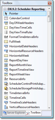 ASP.NET Scheduler - Reporting Toolbox