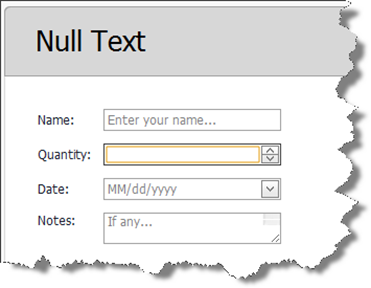 Image: New Features - NullTextStyle and FocusedStyle