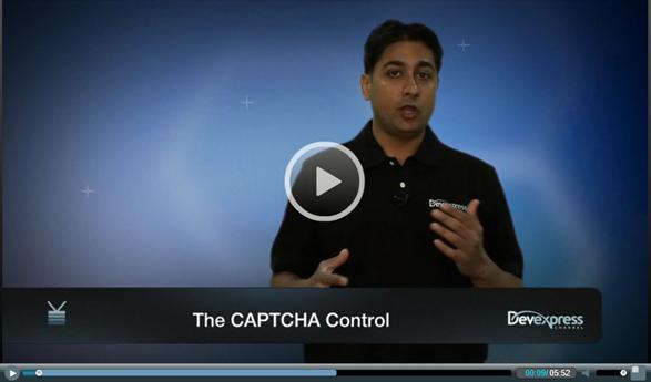 ASPxCaptcha Intro Screencast