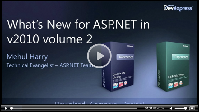 Webinar - What's New for ASP.NET in v2010.2
