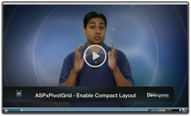 Video: ASPxPivotGrid Compact Layout