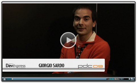 PDC Video: Giorgio Sardo Discusses Internet Explorer
