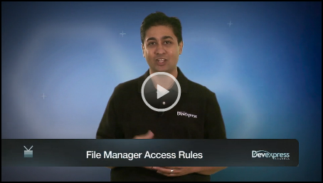 Video: ASP.NET File Manager Security Access Rules
