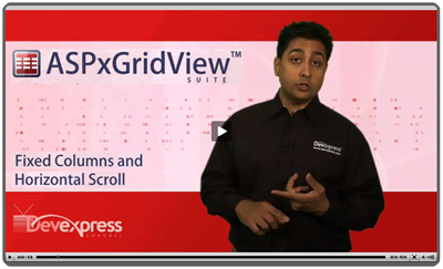 Video: ASPxGridView Fixed Columns and Horizontal Scrolling