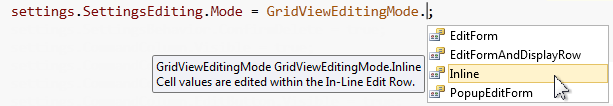 DevExpress MVC GridView - Multiple Edit Modes